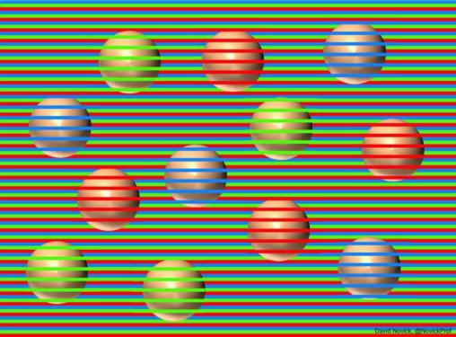 【チカチカ!】IQ高い奴は球体が全部同じ色に見えるらしい