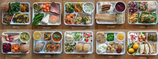 【まるで学校の給食!】どの国の昼飯が一番美味しそうだと思う?