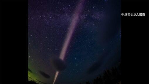 【自然現象】謎の発光現象「スティーブ」か?日本人がアラスカで撮影