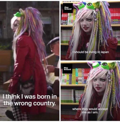 【ウェルカム】白人JK「アメリカに生まれたくなかった、日本なら私のことを受け入れてくれた」