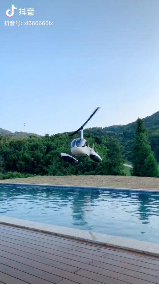 【ドローンか?】中国人の別荘がこちら 移動はヘリコプターでめちゃくちゃ楽しそう