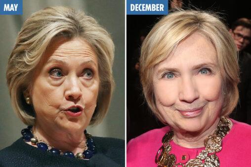 【宇宙人に入れ替わったか】ヒラリー・クリントンの顔が変わった