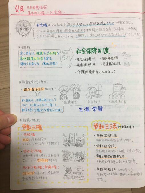 【イラストまとめ】女子中学生(14)「テスト勉強内容をノートに書いてみた!w」