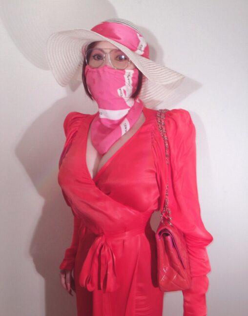 【可愛い?】叶美香のマスク姿をごらんください