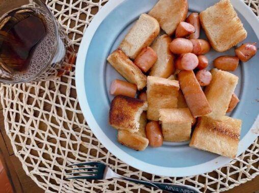 【ウインナーとカリパン!】本田翼(27)さんが昼飯を作った結果