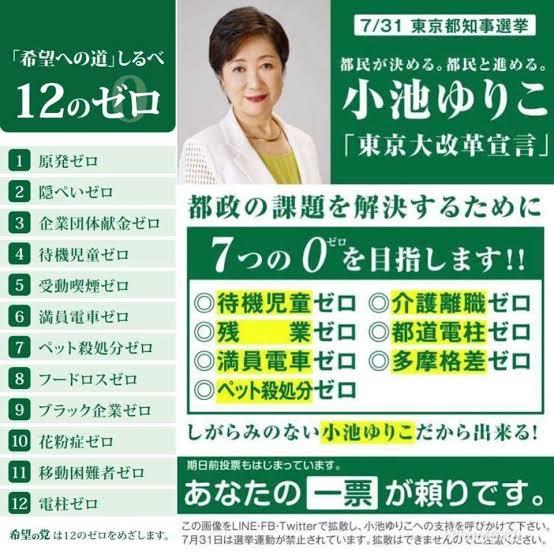 【小池百合子12のゼロ】こんな非現実的な公約を掲げた候補に東京都を任せた都民