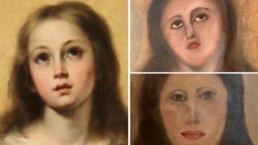 【スペイン!】聖母マリアさん、修復失敗