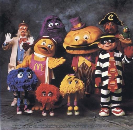 【キャラクター怖い】マクドナルドの初期メンバーがヤバすぎると話題に