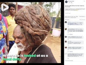 【インド!】95年間髪を切ったことがない男さん、神と崇められる