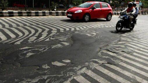 【熱波で道路が!】インド、あまりの暑さにアスファルトが溶ける