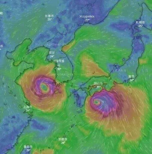 【臼井儀人さん成仏して下さい!】台風9号・10号、野原みさえだった