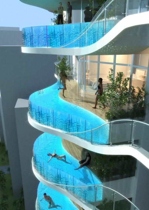 【水抜きは?】ベランダにプライベートプールがあるマンションがこちら