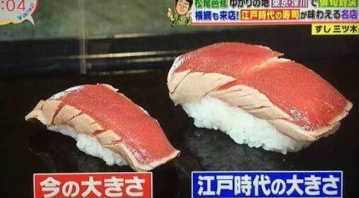 【大きい!】江戸時代の寿司やばすぎる