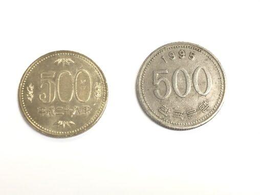 【1995】個人商店を狙って500円玉の代わりに500ウォン玉を出す悪質行為が横行している模様