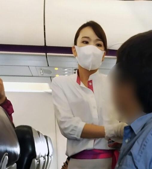 【速報】ピーチ機でマスク着用拒否のマスパセさん、無事逮捕される