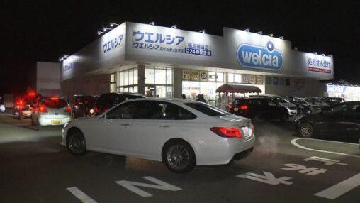 地震発生から1時間後、福島のドラッグストアやガソリンスタンドが大行列ができる