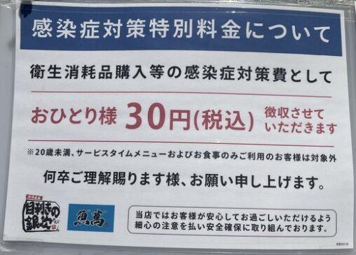 【モンテローザ】居酒屋「コロナ対策費用で一人30円頂きます」←客ブチギレで炎上して徴収中止