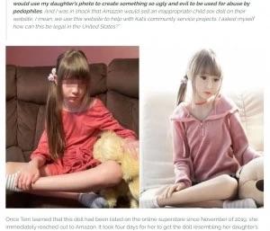 【悲報】女さん、娘をモデルにしたラブドールが売られていることを知り泣き崩れてしまう
