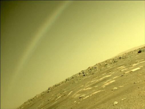 【宇宙】火星で「虹」が撮影される(写真あり)