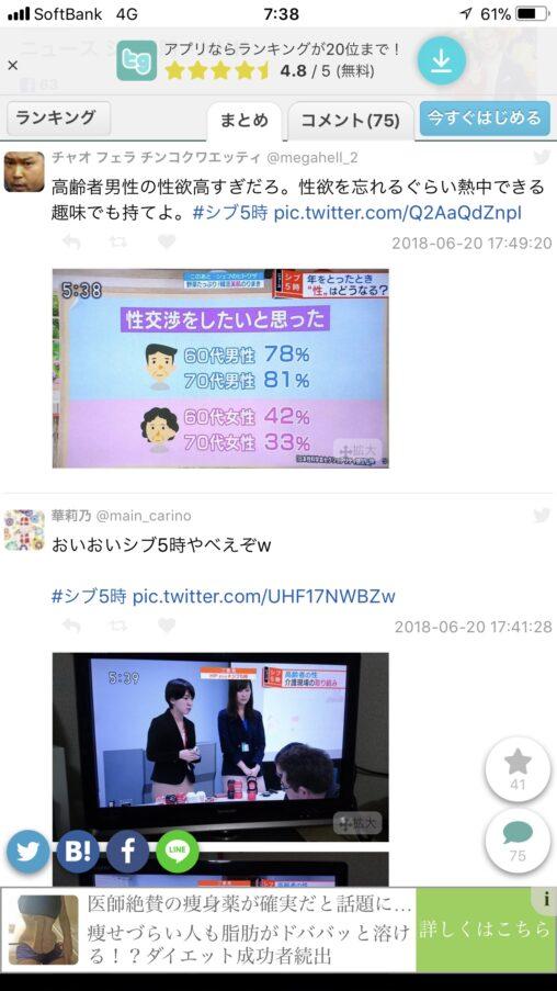 老人も性交渉したい 60代 男78%女42% 70代 男81%女33% NHKで放送