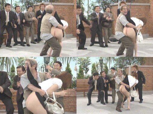【追悼】志村けんが女のスカートめくってパンツ脱がして生尻を見せびらかすコント