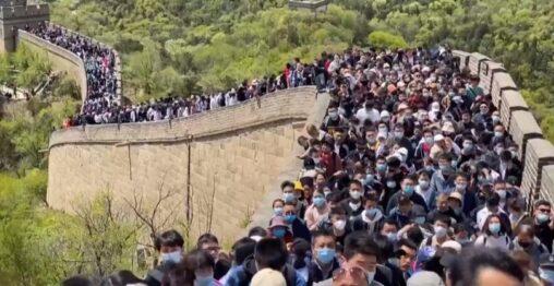 【収束!】中国のGWに25億人が万里の長城に殺到
